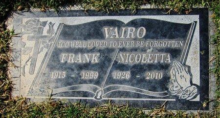 VAIRO, NICOLETTA - Maricopa County, Arizona   NICOLETTA VAIRO - Arizona Gravestone Photos