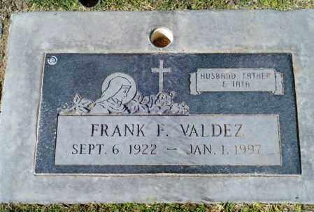 VALDEZ, FRANK F. - Maricopa County, Arizona   FRANK F. VALDEZ - Arizona Gravestone Photos