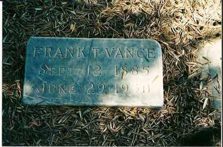 VANCE, FRANK T - Maricopa County, Arizona | FRANK T VANCE - Arizona Gravestone Photos