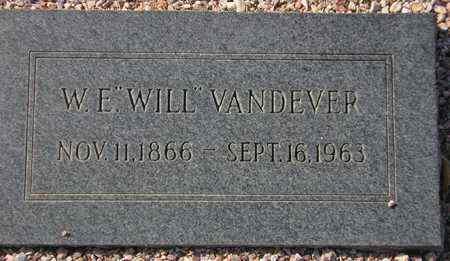 VANDEVER, W. E. - Maricopa County, Arizona | W. E. VANDEVER - Arizona Gravestone Photos