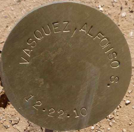 VASQUEZ, ALFONSO S. - Maricopa County, Arizona   ALFONSO S. VASQUEZ - Arizona Gravestone Photos