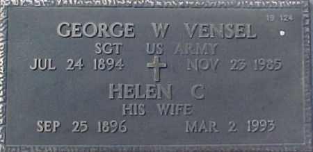VENSEL, GEORGE W. - Maricopa County, Arizona   GEORGE W. VENSEL - Arizona Gravestone Photos