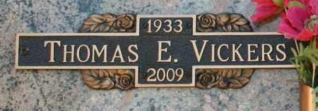 VICKERS, THOMAS EDWIN - Maricopa County, Arizona | THOMAS EDWIN VICKERS - Arizona Gravestone Photos