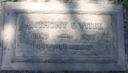 VITEK, ANTHONY S - Maricopa County, Arizona | ANTHONY S VITEK - Arizona Gravestone Photos