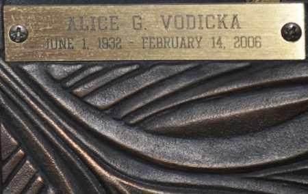 VODICKA, ALICE G. - Maricopa County, Arizona   ALICE G. VODICKA - Arizona Gravestone Photos