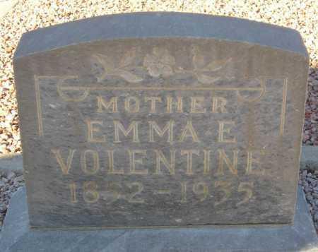 VOLENTINE, EMMA E. - Maricopa County, Arizona | EMMA E. VOLENTINE - Arizona Gravestone Photos