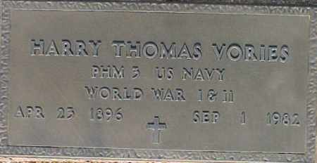VORIES, HARRY THOMAS - Maricopa County, Arizona | HARRY THOMAS VORIES - Arizona Gravestone Photos