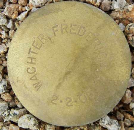 WACHTER, FREDERICK A. - Maricopa County, Arizona | FREDERICK A. WACHTER - Arizona Gravestone Photos