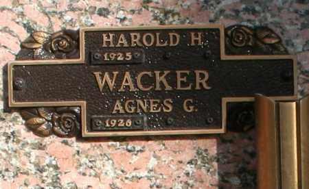 WACKER, HAROLD H - Maricopa County, Arizona | HAROLD H WACKER - Arizona Gravestone Photos