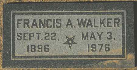 WALKER, FRANCIS A. - Maricopa County, Arizona | FRANCIS A. WALKER - Arizona Gravestone Photos