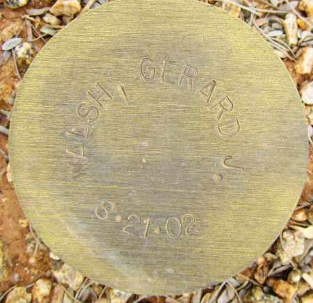 WALSH, GERARD J. - Maricopa County, Arizona | GERARD J. WALSH - Arizona Gravestone Photos