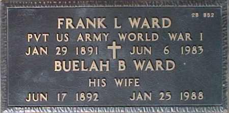 WARD, BUELAH B. - Maricopa County, Arizona | BUELAH B. WARD - Arizona Gravestone Photos