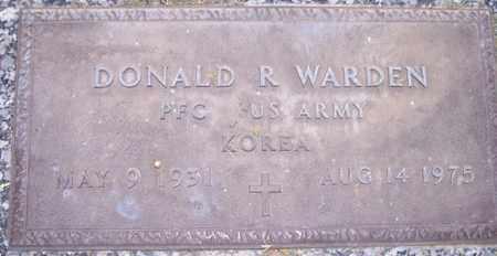 WARDEN, DONALD R. - Maricopa County, Arizona | DONALD R. WARDEN - Arizona Gravestone Photos