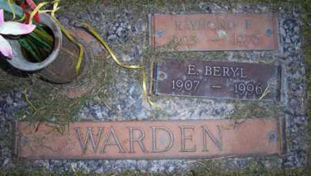 WARDEN, RAYMOND F. - Maricopa County, Arizona   RAYMOND F. WARDEN - Arizona Gravestone Photos