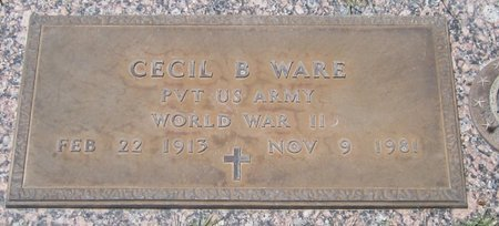 WARE, CECIL B. - Maricopa County, Arizona | CECIL B. WARE - Arizona Gravestone Photos