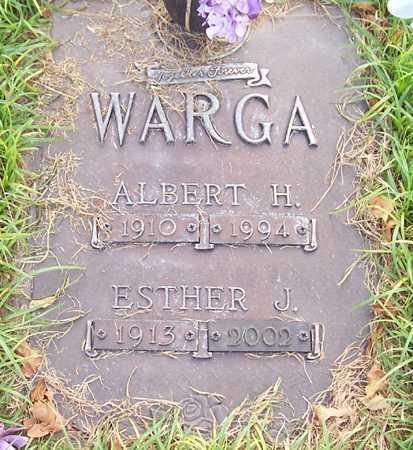 WARGA, ESTHER J. - Maricopa County, Arizona | ESTHER J. WARGA - Arizona Gravestone Photos