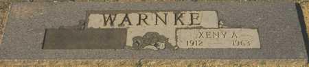 WARNKE, XENY A. - Maricopa County, Arizona | XENY A. WARNKE - Arizona Gravestone Photos