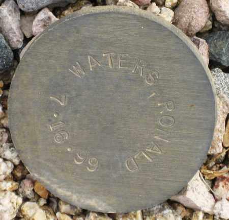 WATERS,, RONALD - Maricopa County, Arizona | RONALD WATERS, - Arizona Gravestone Photos