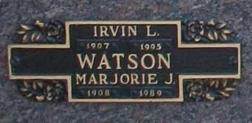 WATSON, MARJORIE J - Maricopa County, Arizona   MARJORIE J WATSON - Arizona Gravestone Photos