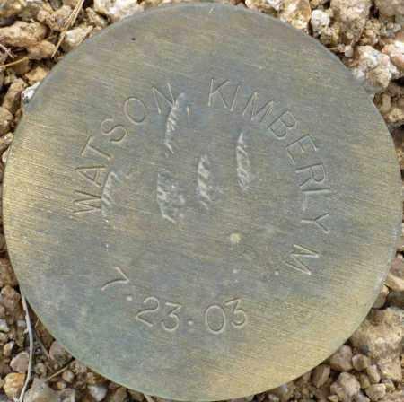 WATSON, KIMBERLY M. - Maricopa County, Arizona | KIMBERLY M. WATSON - Arizona Gravestone Photos