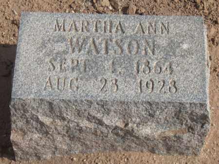 WATSON, MARTHA ANN - Maricopa County, Arizona | MARTHA ANN WATSON - Arizona Gravestone Photos