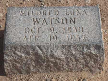 WATSON, MILDRED LUNA - Maricopa County, Arizona | MILDRED LUNA WATSON - Arizona Gravestone Photos