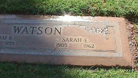 WATSON, SARAH E. - Maricopa County, Arizona   SARAH E. WATSON - Arizona Gravestone Photos