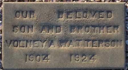 WATTERSON, VOLNEY A. - Maricopa County, Arizona | VOLNEY A. WATTERSON - Arizona Gravestone Photos