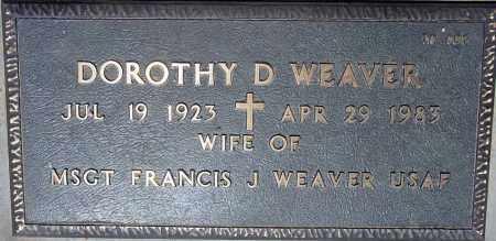 WEAVER, DOROTHY D - Maricopa County, Arizona   DOROTHY D WEAVER - Arizona Gravestone Photos