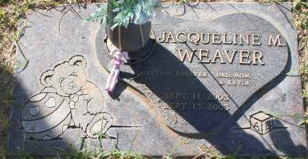 WEAVER, JACQUELINE M - Maricopa County, Arizona | JACQUELINE M WEAVER - Arizona Gravestone Photos