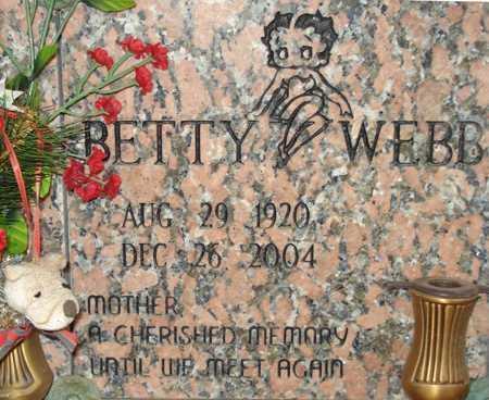 WEBB, BETTY - Maricopa County, Arizona   BETTY WEBB - Arizona Gravestone Photos