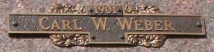 WEBER, CARL W - Maricopa County, Arizona | CARL W WEBER - Arizona Gravestone Photos