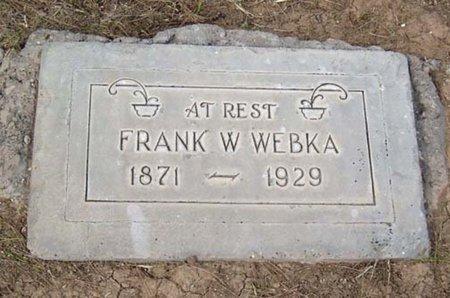 WEBKA, FRANK W. - Maricopa County, Arizona | FRANK W. WEBKA - Arizona Gravestone Photos