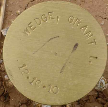 WEDGE, GRANT I. - Maricopa County, Arizona   GRANT I. WEDGE - Arizona Gravestone Photos