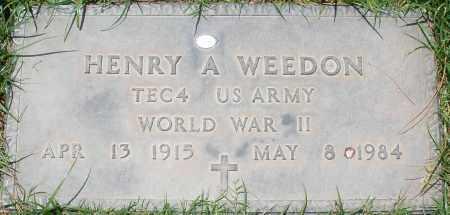 WEEDON, HENRY A. - Maricopa County, Arizona | HENRY A. WEEDON - Arizona Gravestone Photos