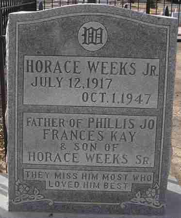 WEEKS, HORACE - Maricopa County, Arizona | HORACE WEEKS - Arizona Gravestone Photos