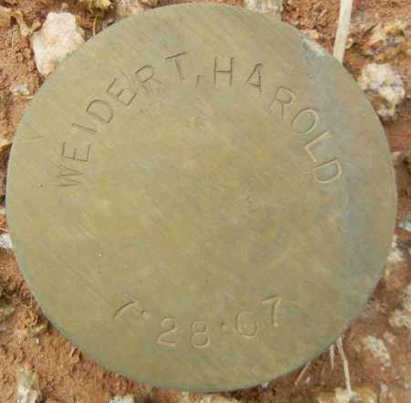 WEIDERT, HAROLD - Maricopa County, Arizona | HAROLD WEIDERT - Arizona Gravestone Photos