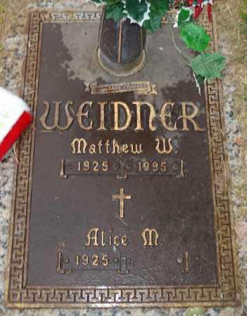 WEIDNER, MATTHEW W. - Maricopa County, Arizona | MATTHEW W. WEIDNER - Arizona Gravestone Photos