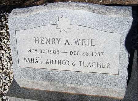 WEIL, HENRY A. - Maricopa County, Arizona | HENRY A. WEIL - Arizona Gravestone Photos