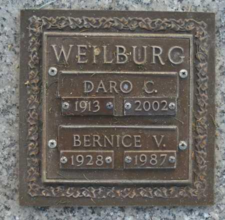 WEILBURG, BERNICE V. - Maricopa County, Arizona | BERNICE V. WEILBURG - Arizona Gravestone Photos