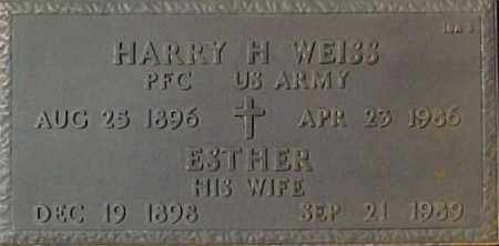 WEISS, ESTHER - Maricopa County, Arizona | ESTHER WEISS - Arizona Gravestone Photos