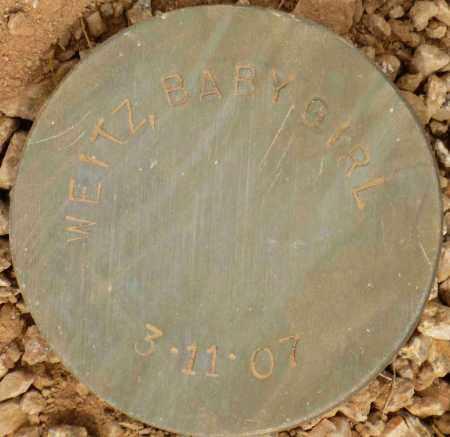 WEITZ, BABY GIRL - Maricopa County, Arizona | BABY GIRL WEITZ - Arizona Gravestone Photos