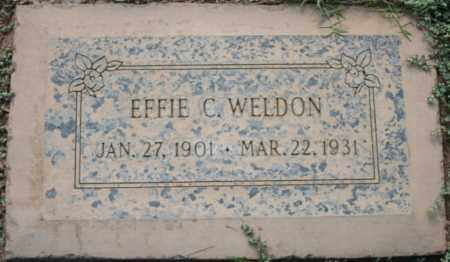 COLLIER WELDON, EFFIE - Maricopa County, Arizona | EFFIE COLLIER WELDON - Arizona Gravestone Photos