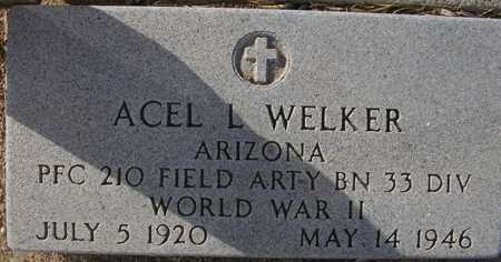 WELKER, ACEL L. - Maricopa County, Arizona | ACEL L. WELKER - Arizona Gravestone Photos