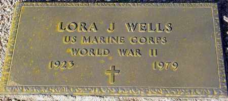 WELLS, LORA J. - Maricopa County, Arizona | LORA J. WELLS - Arizona Gravestone Photos
