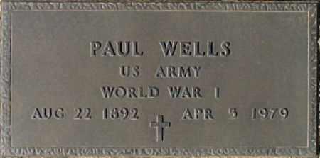 WELLS, PAUL - Maricopa County, Arizona | PAUL WELLS - Arizona Gravestone Photos
