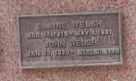 WELSH, ELAINE - Maricopa County, Arizona   ELAINE WELSH - Arizona Gravestone Photos