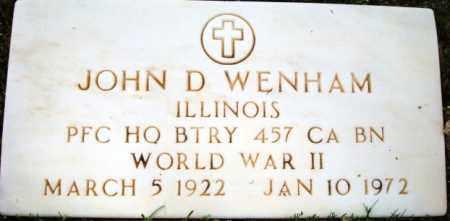 WENHAM, JOHN D. - Maricopa County, Arizona | JOHN D. WENHAM - Arizona Gravestone Photos