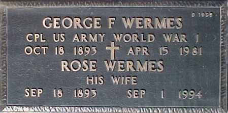 WERMES, ROSE - Maricopa County, Arizona | ROSE WERMES - Arizona Gravestone Photos