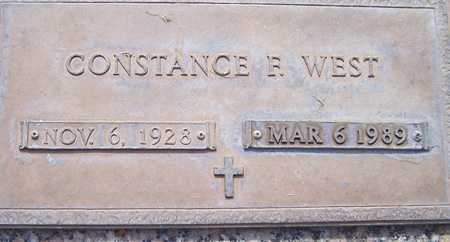 WEST, CONSTANCE F. - Maricopa County, Arizona | CONSTANCE F. WEST - Arizona Gravestone Photos